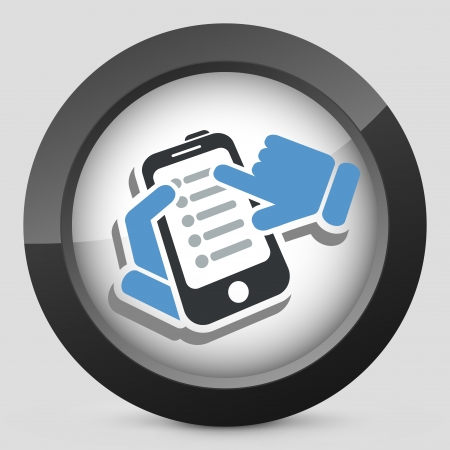 Smartphone setting icon Stock Vector - 24810550