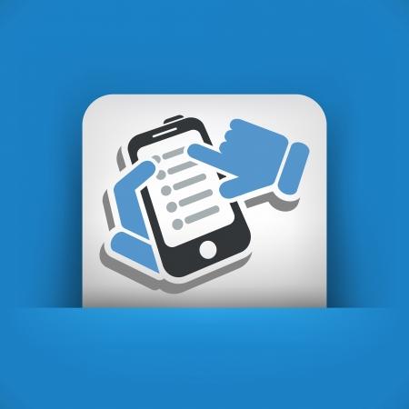 Smartphone setting icon Stock Vector - 24810703