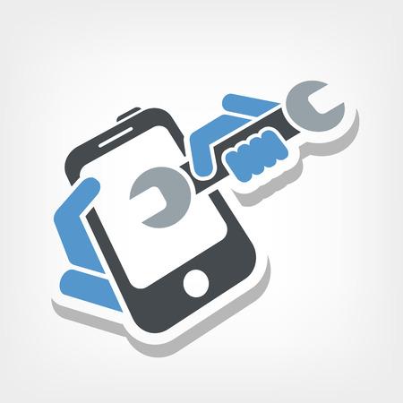 roto: Asistencia Smartphone Vectores