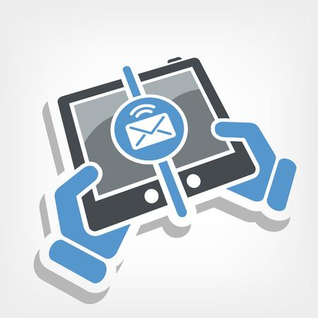 Message sending icon Stock Vector - 25078709