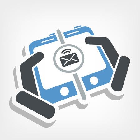 Mail sending icon