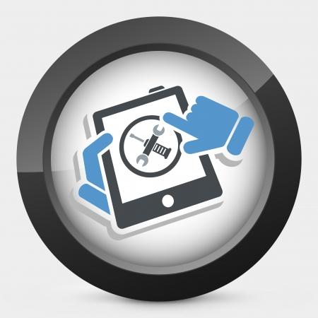 Touchscreen device setting Stock Vector - 25078327