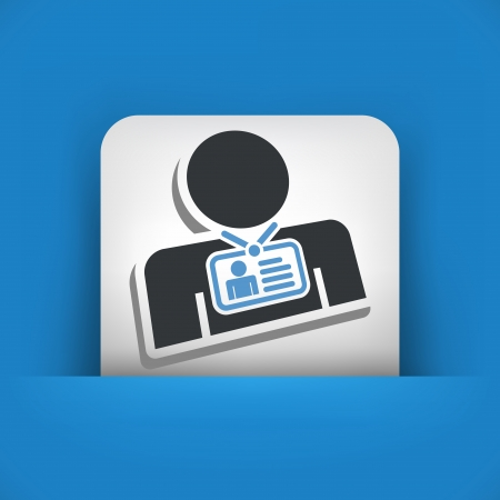 accreditation: Identity card Illustration
