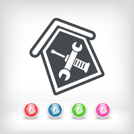 tighten: House repair Illustration