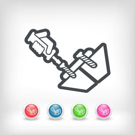 Screwdriver icon Illustration