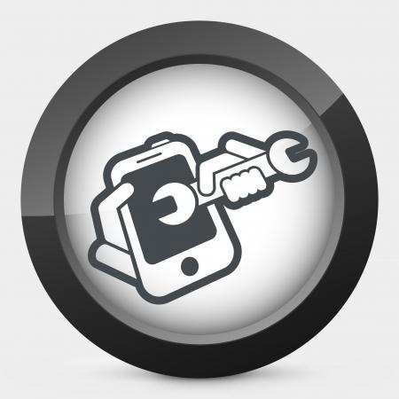 Smartphone assistance Vector