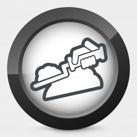 hand shovels: Bricklayer icon