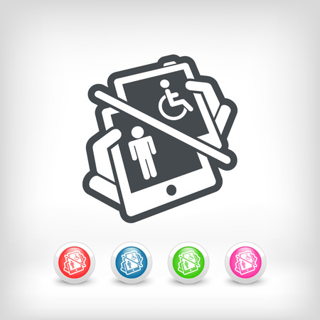 Disabled device Vector