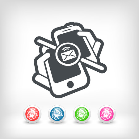 Message sending icon Stock Vector - 25186889