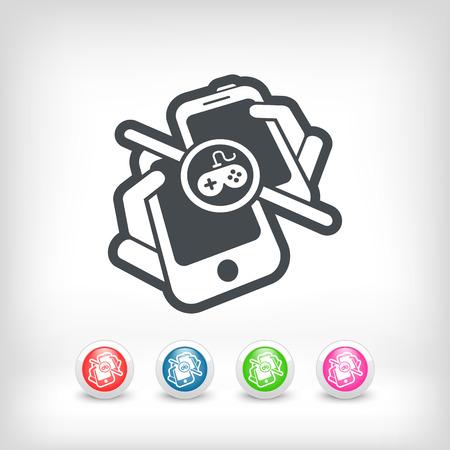 online game: Online game play Illustration