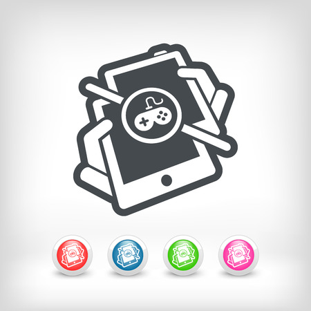 game play: Online game play Illustration