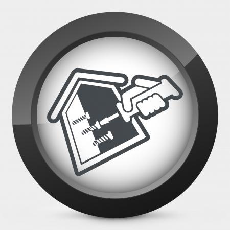 bricolage: House repair Illustration