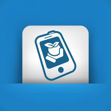 contact icon: Farm contactpictogram Stock Illustratie