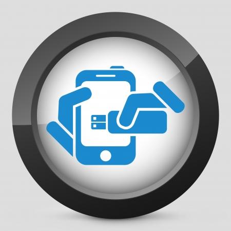 tera: Smartphone storage icon Illustration