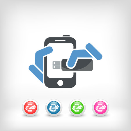 Smartphone storage icon Vector