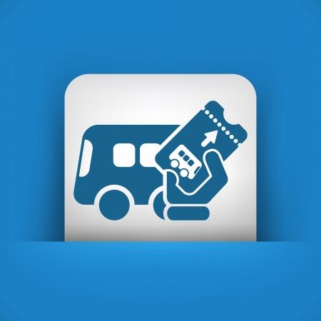 Bus ticket Illustration