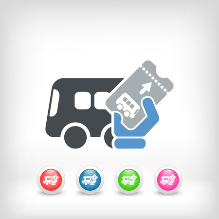 Bus ticket Stock Vector - 25406086