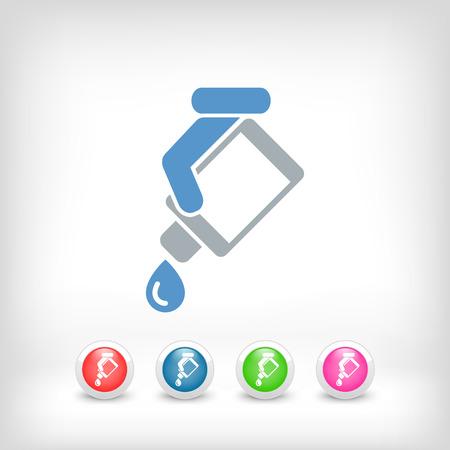 Drop-Flasche Standard-Bild - 25406084