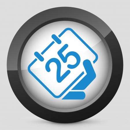Calendar icon Stock Vector - 25406592