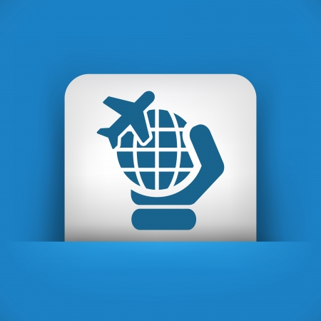 travel icon: Vliegtuig reizen pictogram