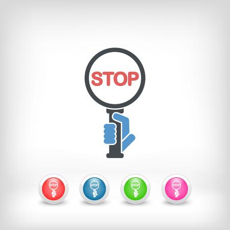 obligation: Stop signal Illustration