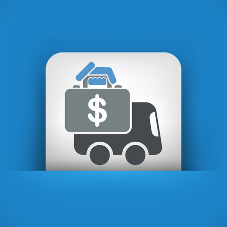 Money van transfer Vector