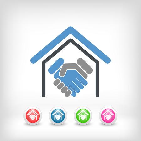 simbol: Real estate handshake Illustration