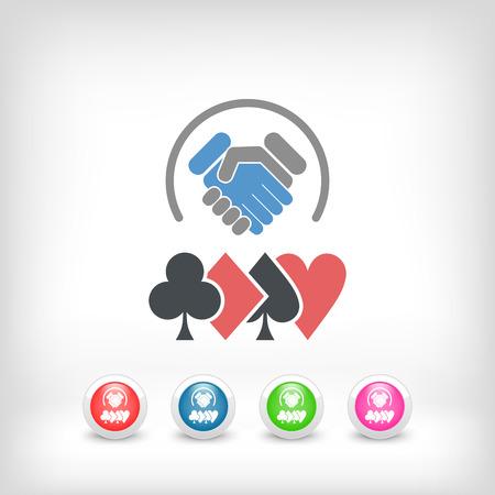 Poker challenge icon Illustration