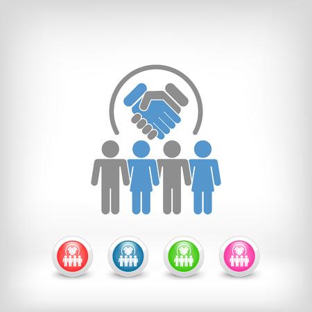 esteem: Group agreement icon