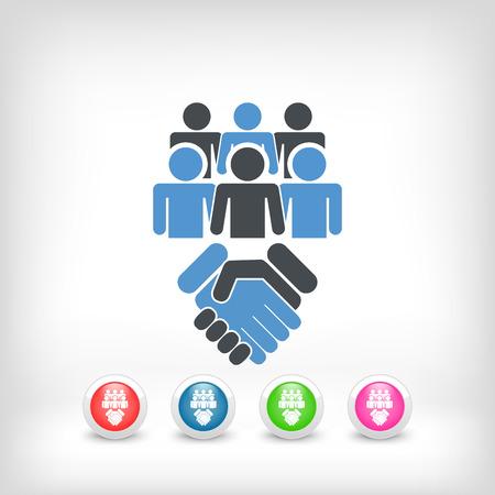 negotiate: Social network icon concept