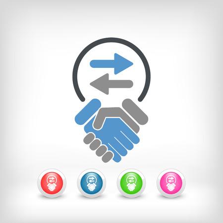 Exchange agreement icon Stock Vector - 26767778