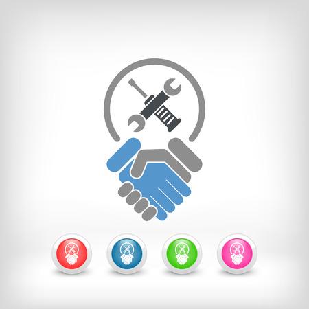 auditors: Worker handshake icon