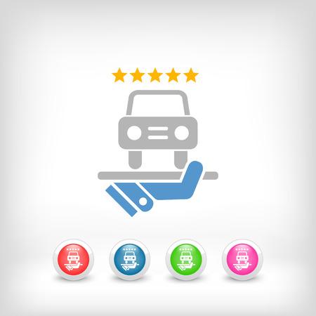 professionalism: Car luxury services icon