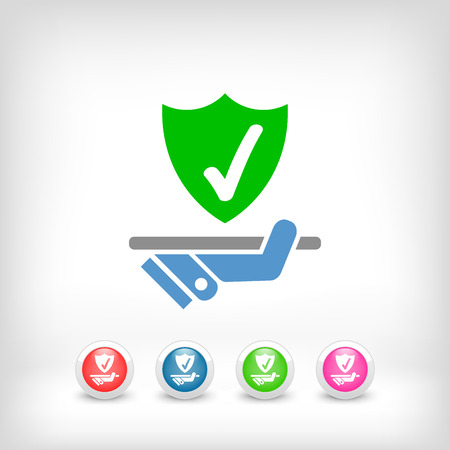 best protection: Best protection service icon Illustration