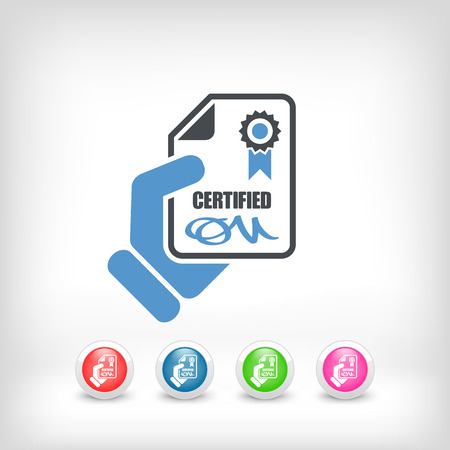 Certified document icon Stock Vector - 26767826