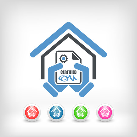 Certified building icon Stock Vector - 26767828