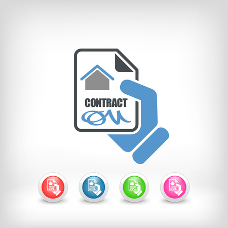 autographing: House contract icon