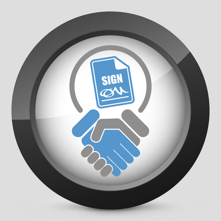 Sign on agreement document Stock Vector - 26767854