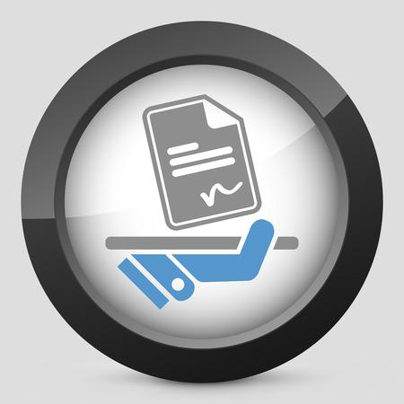 ratificaci�n: Firmar en el icono de documento Vectores