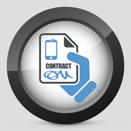 autographing: Smartphone contract icon