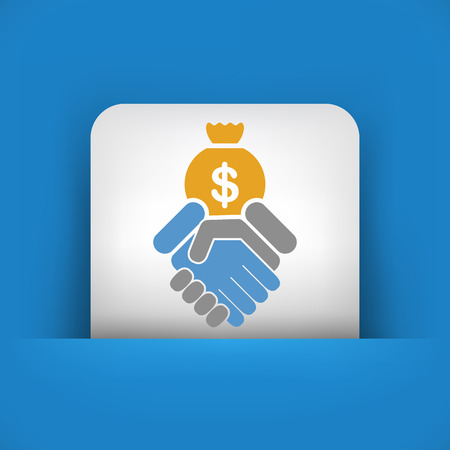 tax policy: Financial agreement icon