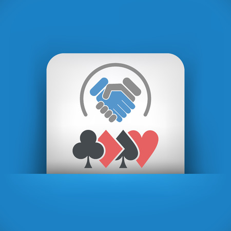fair play: Poker challenge icon Illustration