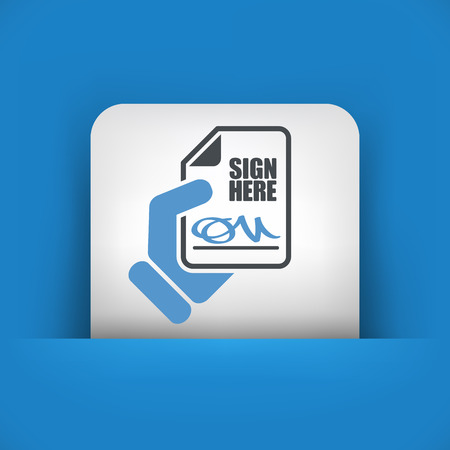 Sign on document icon