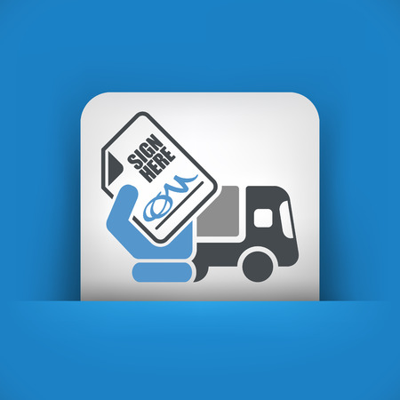 Delivery document sign icon Vector