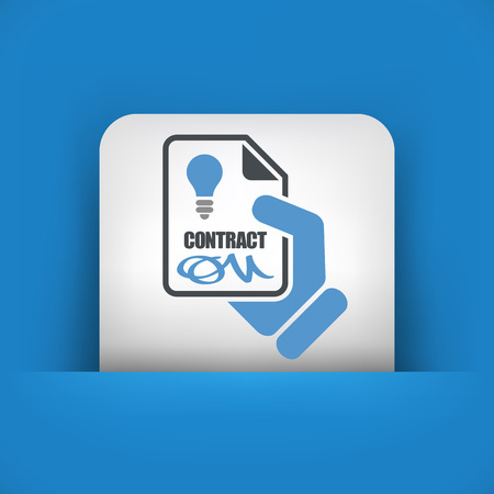 autographing: Contract for electricity service Illustration