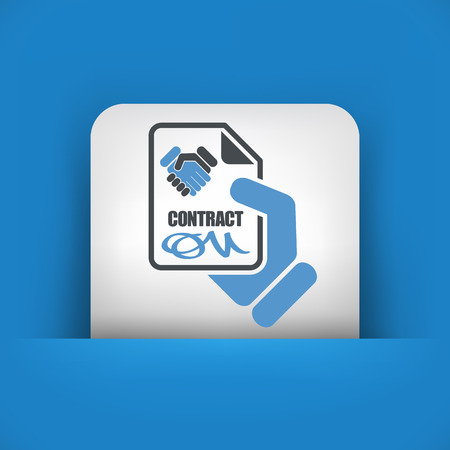 Contract concept icon Vector