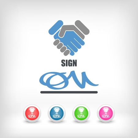 attestation: Sign on agreement document