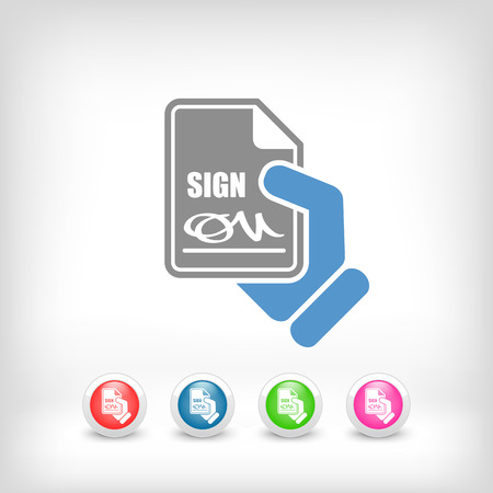 conciliation: Sign on document icon