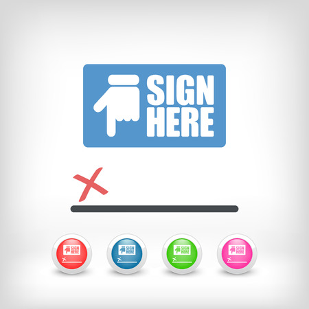 Sign on document icon Stock Vector - 26767966