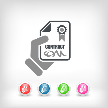 Contract icon Stock Vector - 26768027